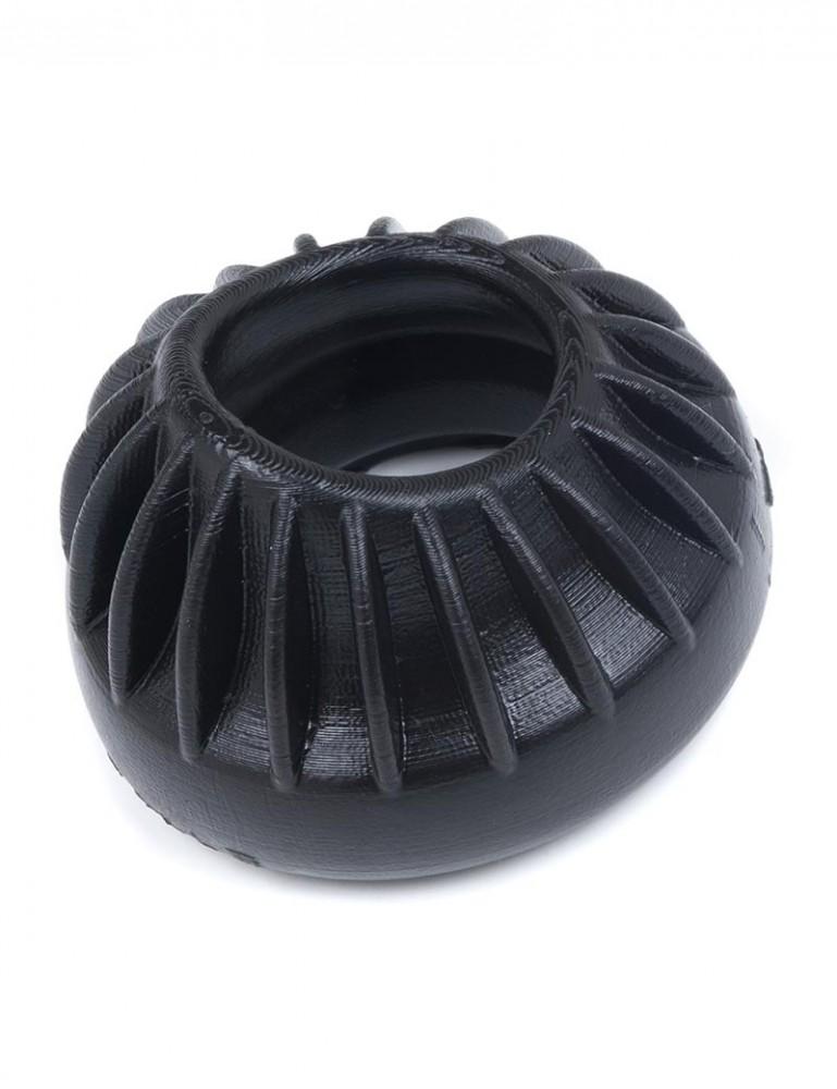 Turbine Silicone Cock Ring, Black