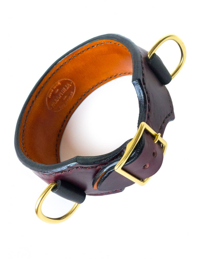 Martingale Collar, Hand-stitched Leather, Double D-Ring