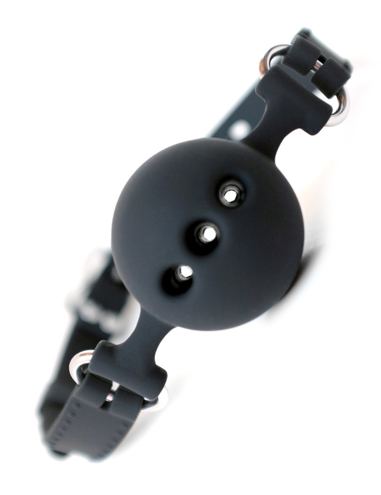 Breathable Silicone Ball Gag with Silicone Strap - Ashley Lane