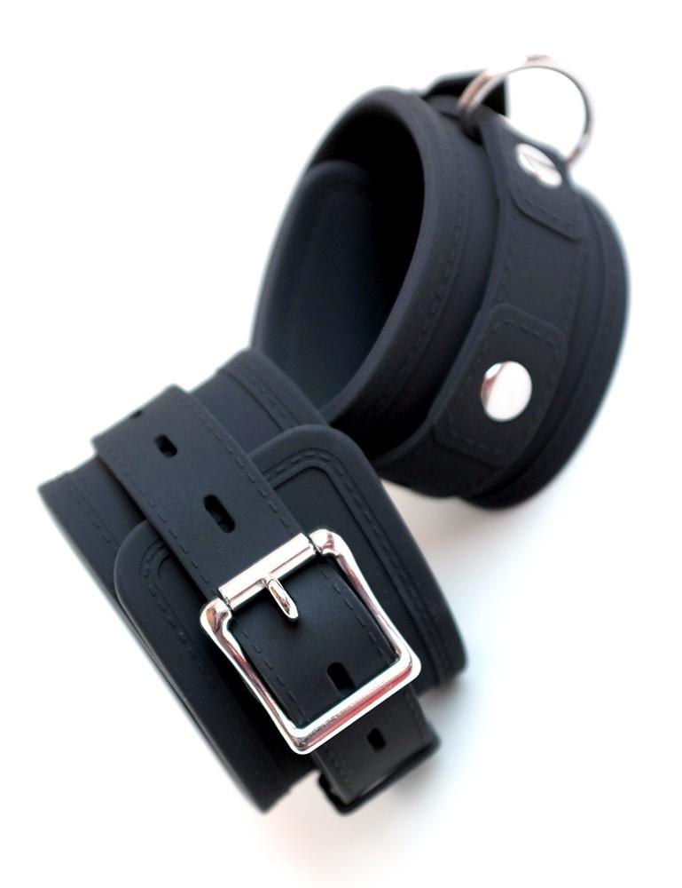 Silicone Vegan Locking Bondage Wrist Cuffs