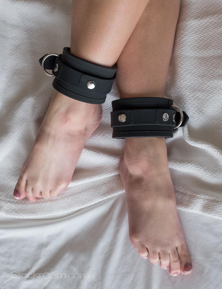 Silicone Vegan Locking Bondage Ankle Cuffs
