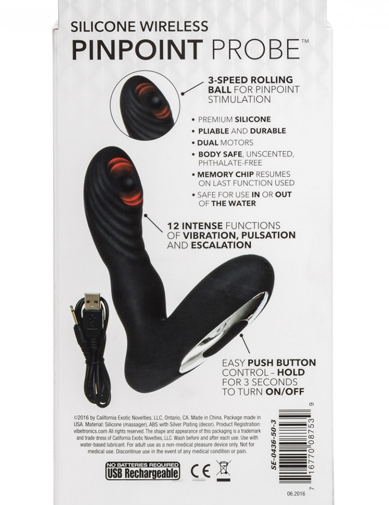 Silicone Wireless Pinpoint Anal Probe by CalExotics