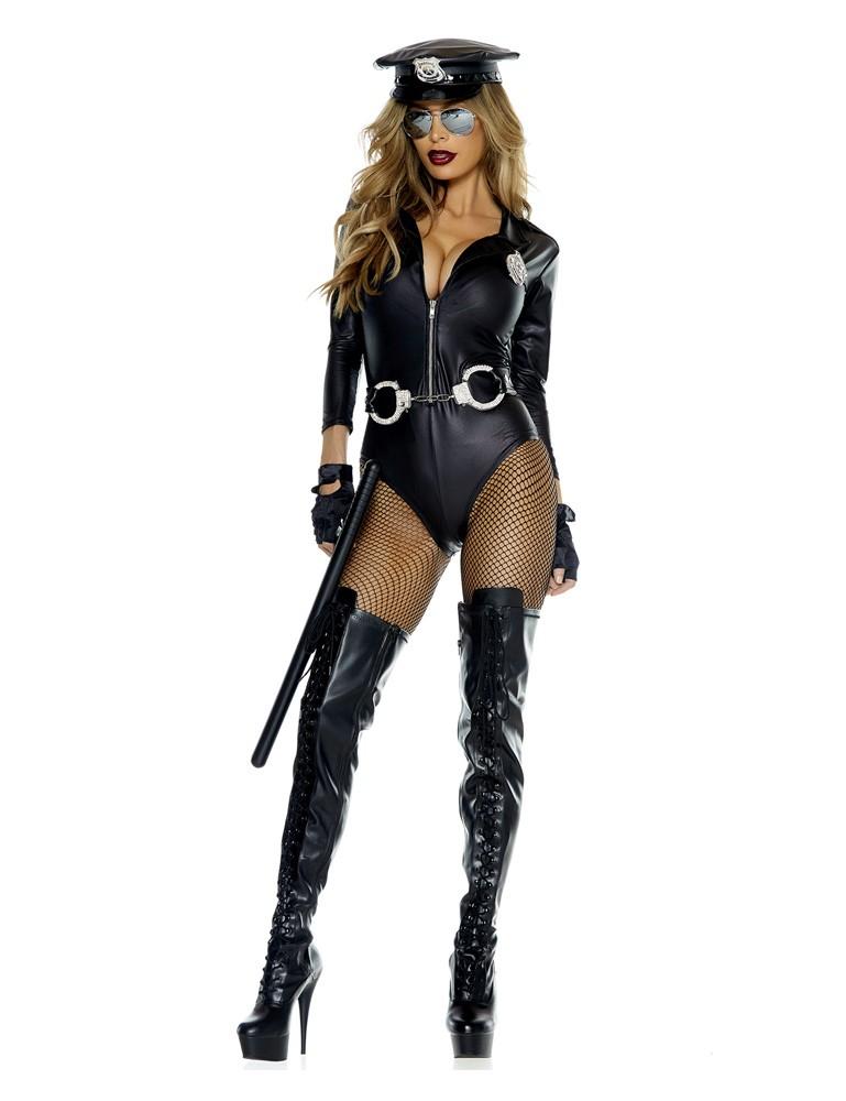 Do Not Cross Sexy Cop Halloween Costume
