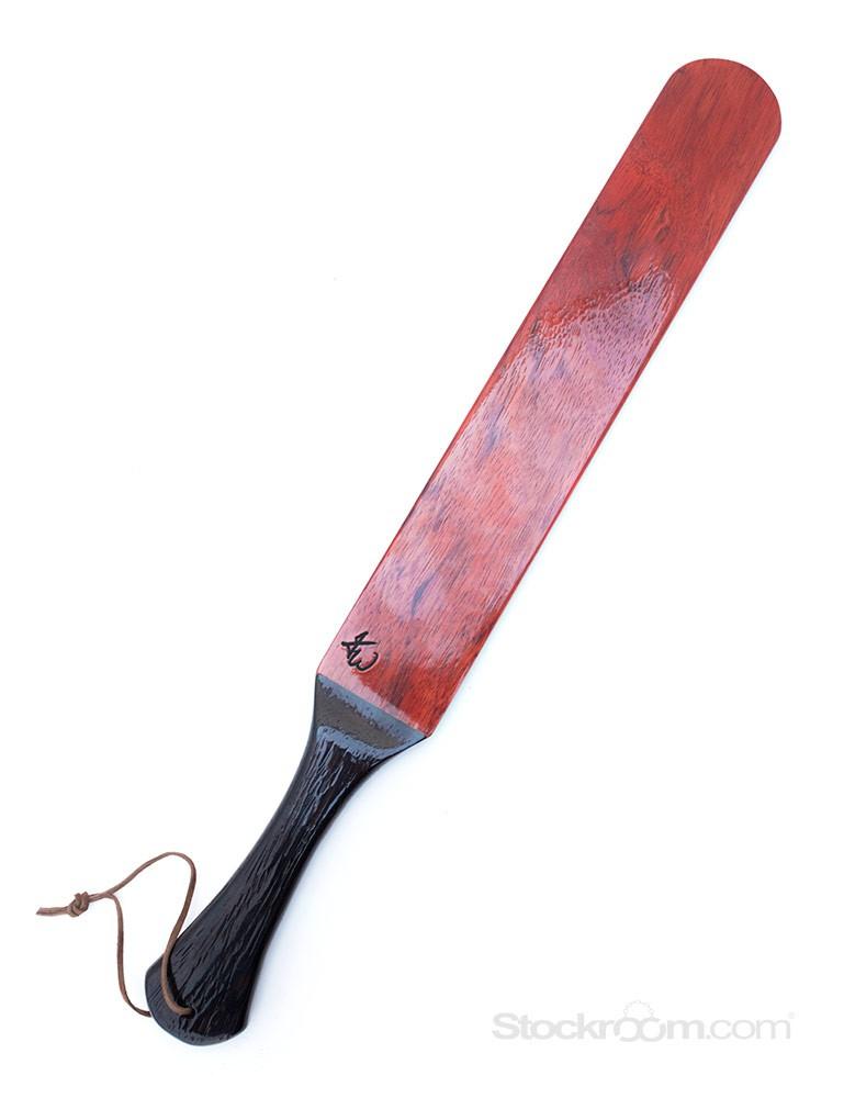 """Alexandra Wooden Spanking Paddle, 20""""- Padauk w/ Wenge Handle"""