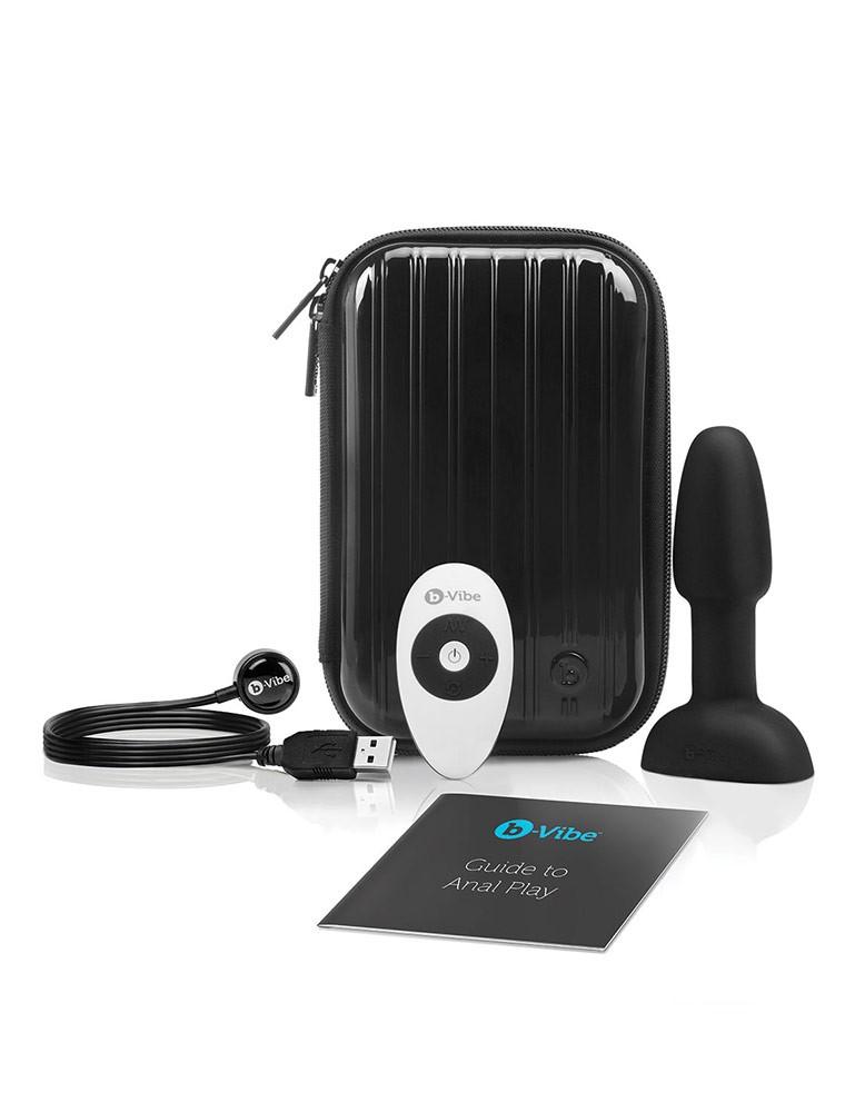 B-Vibe Petite Rimming Butt Plug, Black
