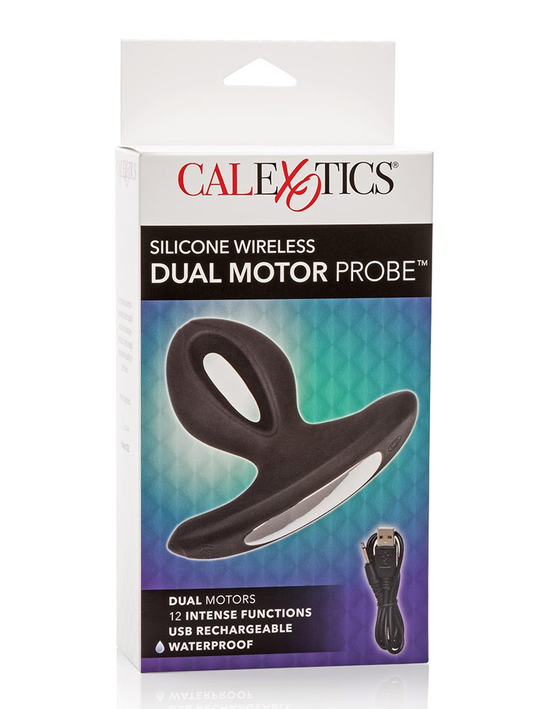 Silicone Wireless Dual Motor Anal Probe