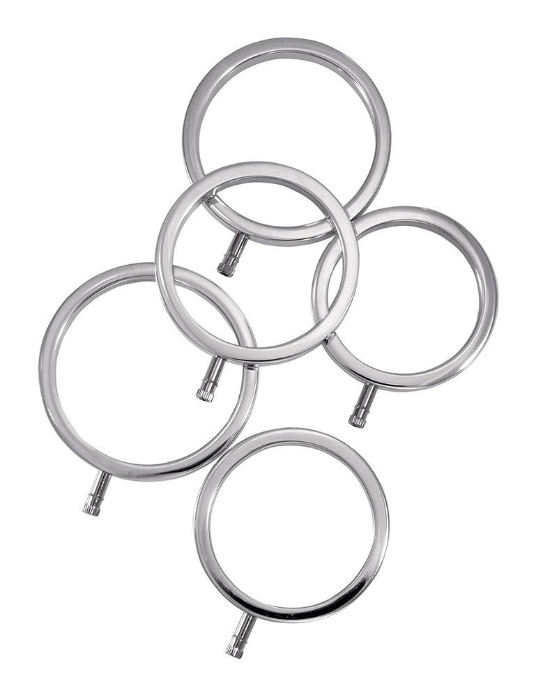 ElectraStim Solid Metal Cock Ring Set, 5 Sizes