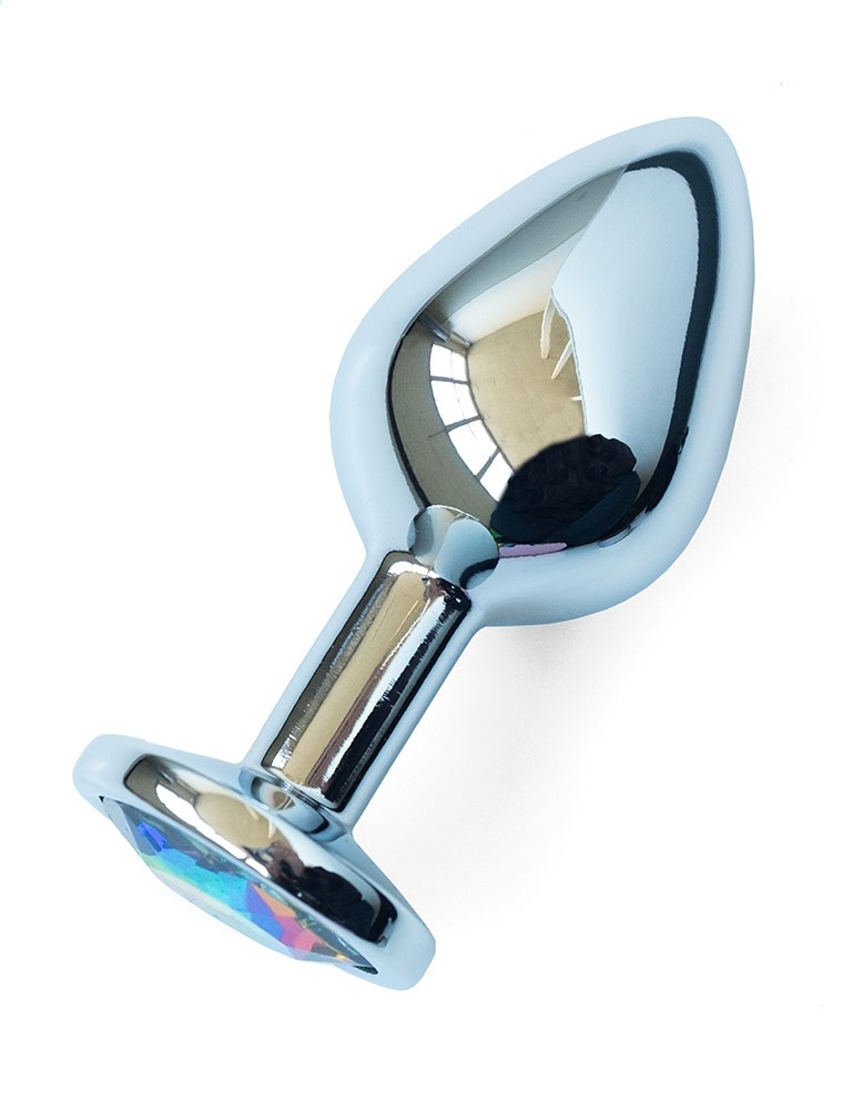 Pride Rainbow Stainless Steel Butt Plug, Med