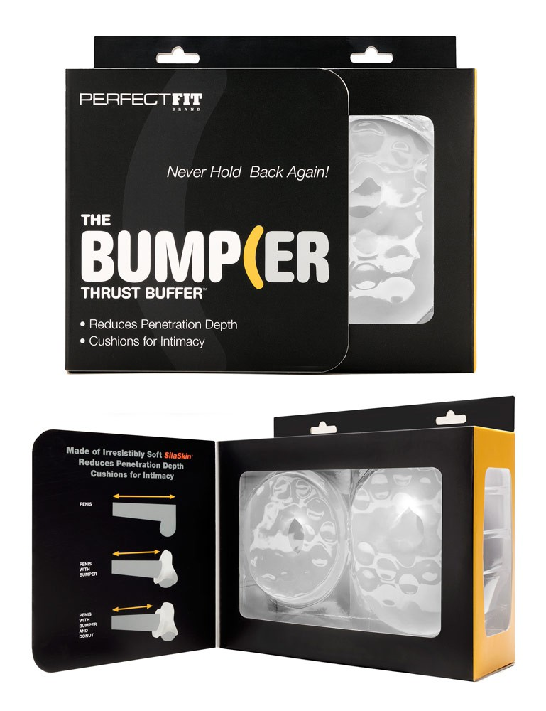 PerfectFit The Bumper, Clear Silicone Sex Cushion Cock Ring
