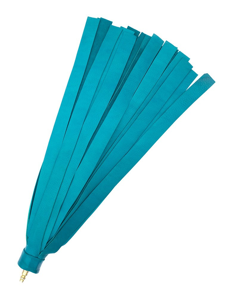 Turquoise Leather Deer Hide Interchangeable Flogger Head
