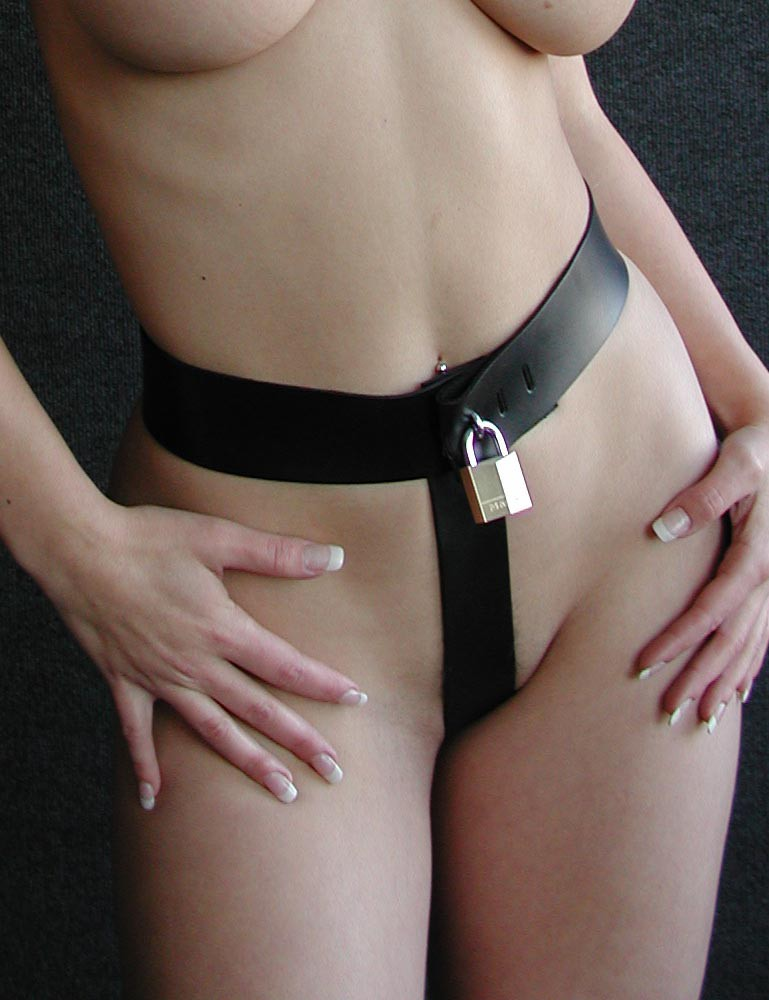 gentle chastity belt on a woman