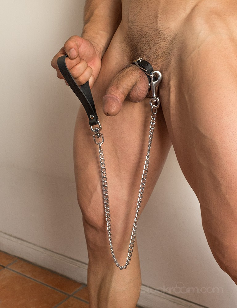 Buckling Cock Ring Chain Leash Set