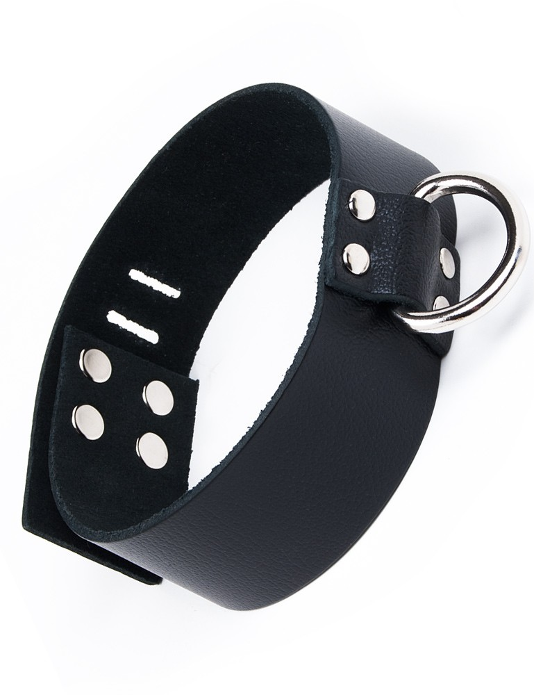 Locking Leather Collar, Leather