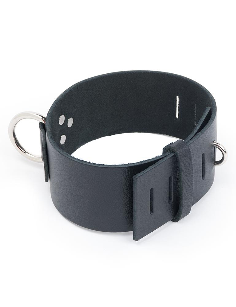 Extra Wide Locking Leather Collar