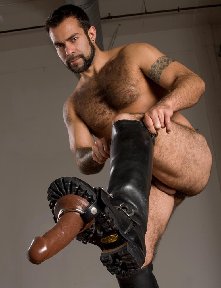 Leather Thigh Dildo Strap