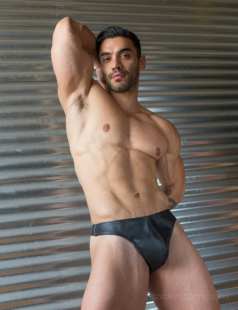 Male Leather Thong