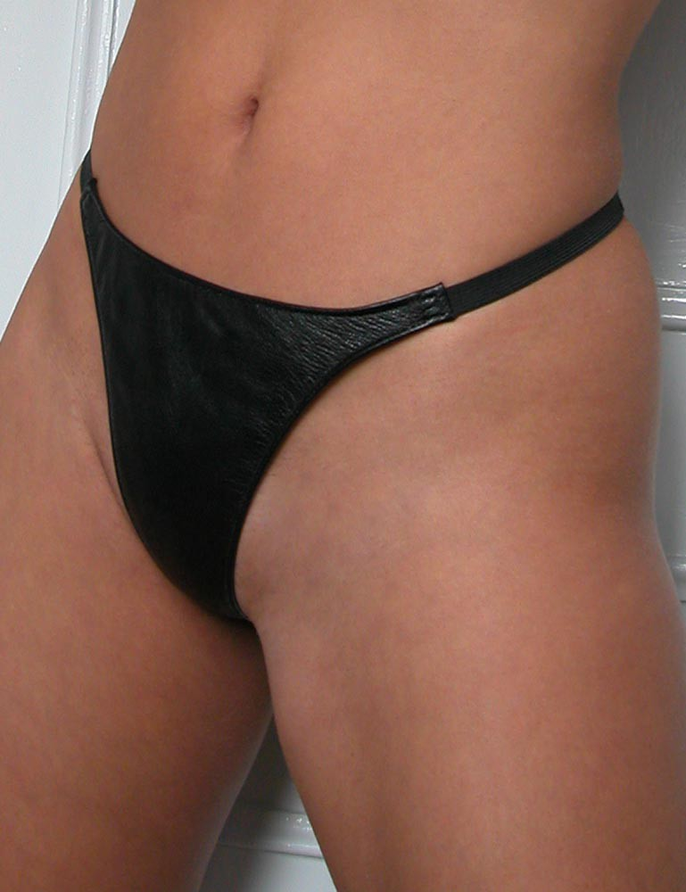 Women's Leather Thong