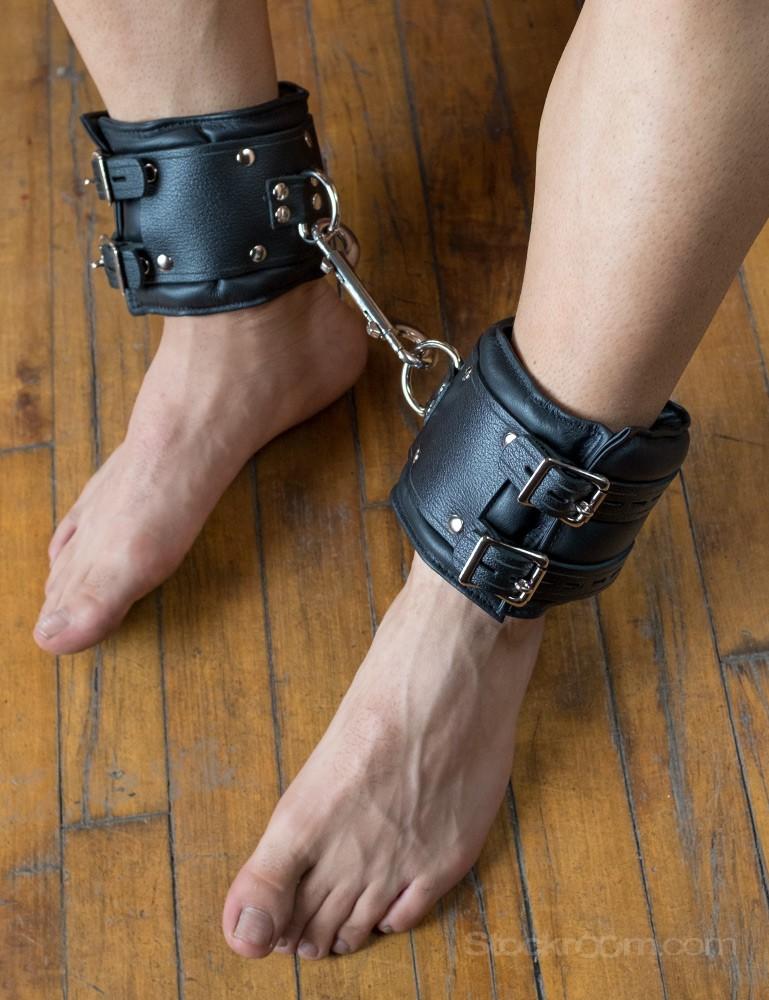 Premium Lockable Leather Ankle Cuffs