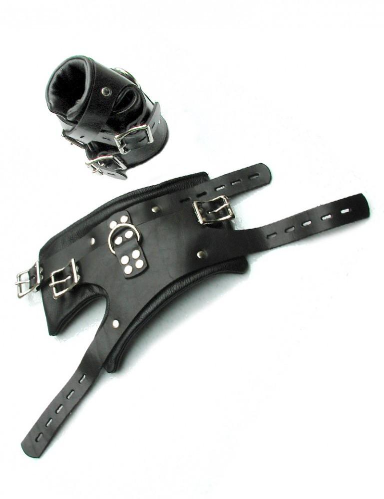 Deluxe Leather Suspension Bondage Cuffs