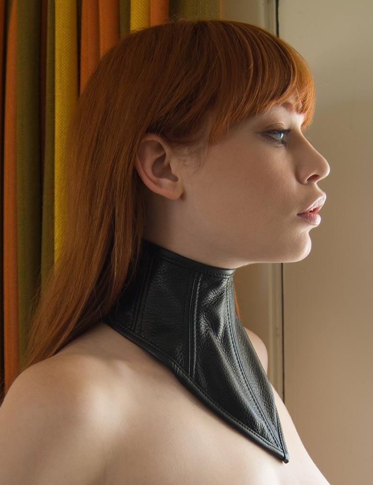 Lace-up Chevron Collar