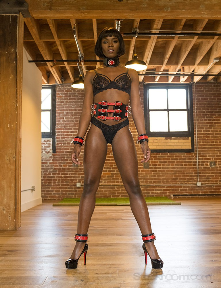 Firecracker Patent Leather Posture Collar - Ana Foxxx