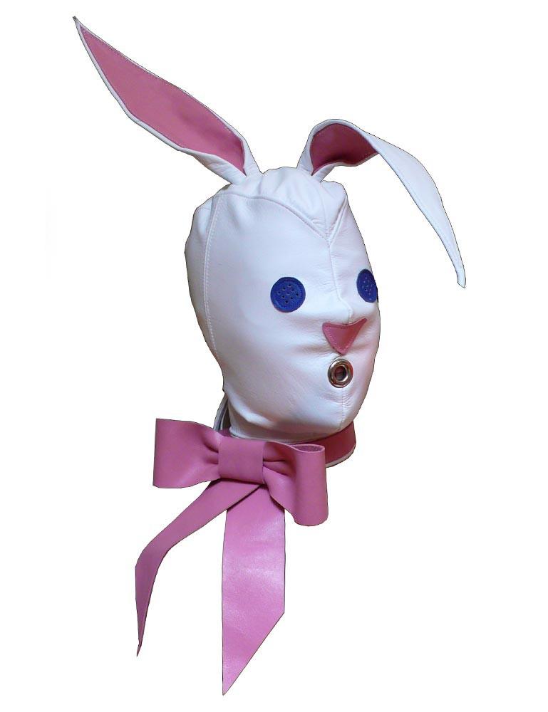Leather Bunny Hood