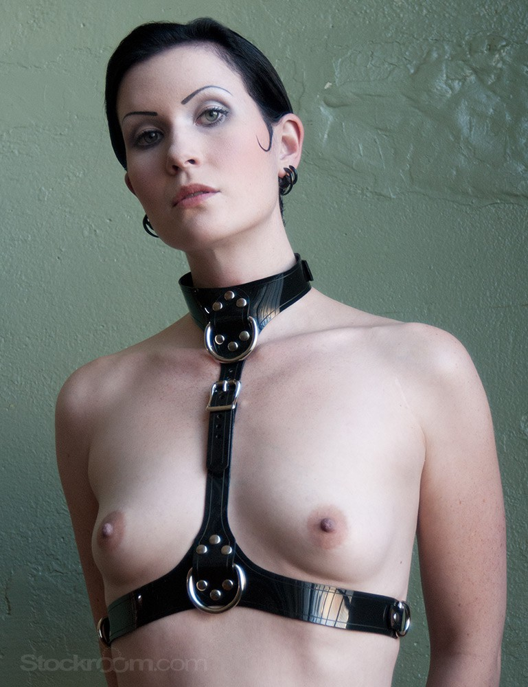 Leather PVC Bust Harness