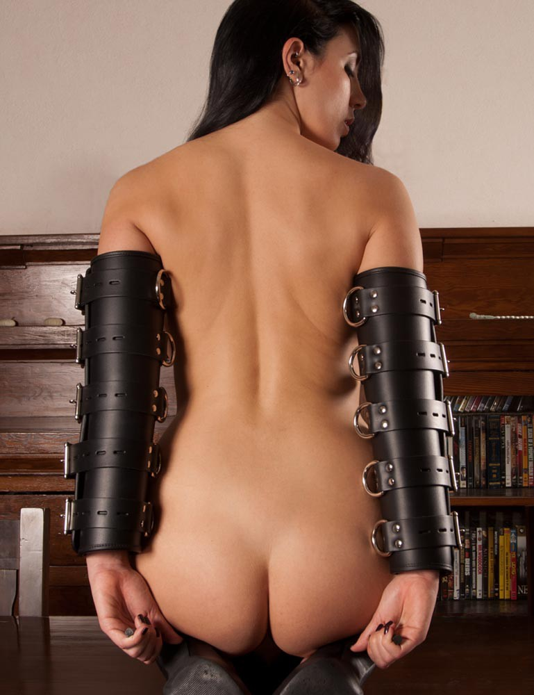 Premium Leather Arm Splints with Locking Buckles
