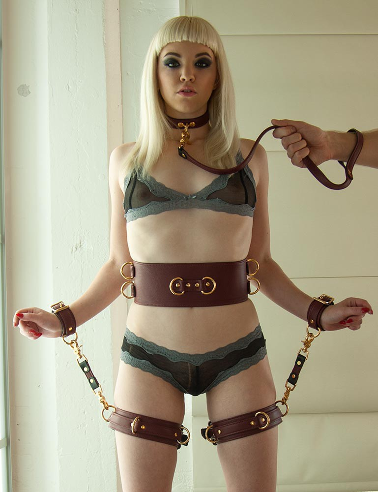 JT Signature Collection Locking Leather Thigh Cuffs