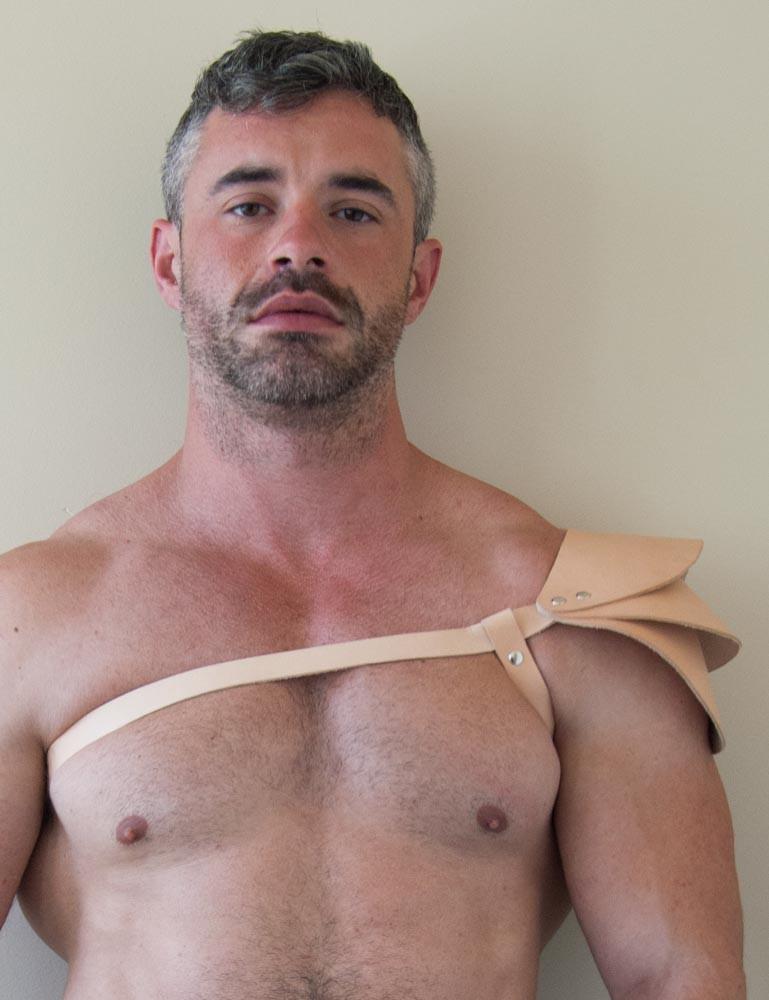 Apollo Male Leather Harness