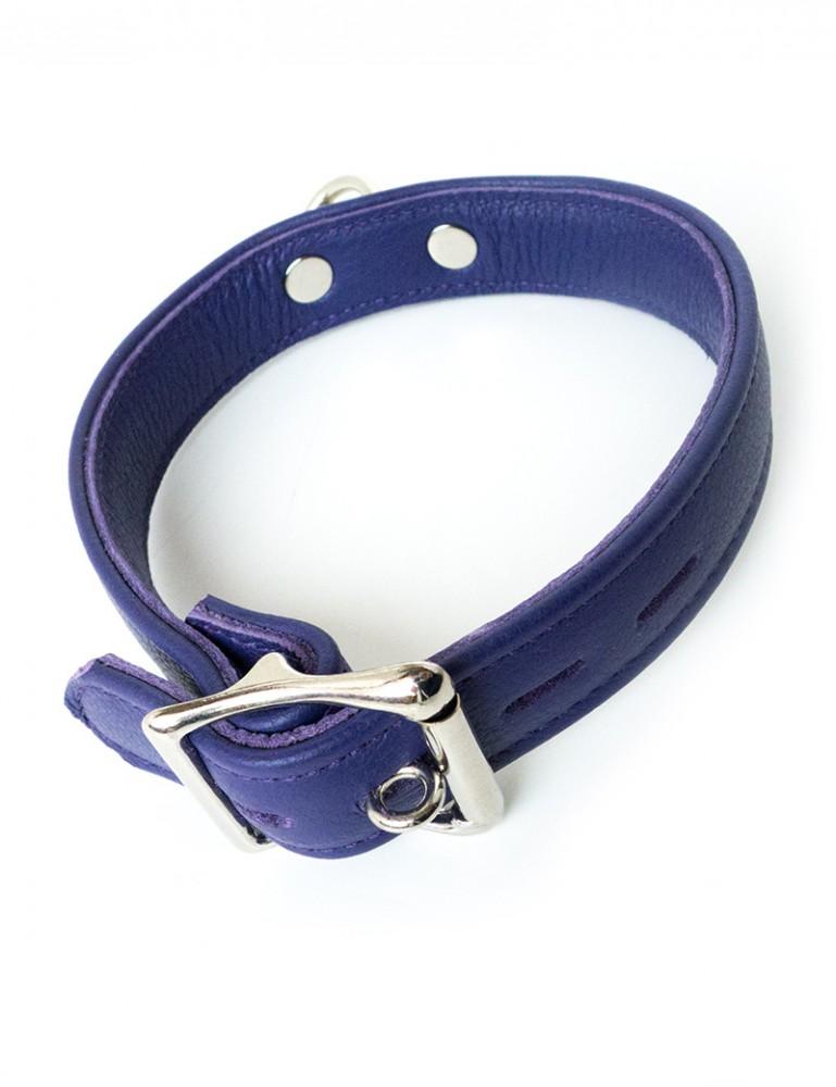 Premium Garment Leather Collar, Purple