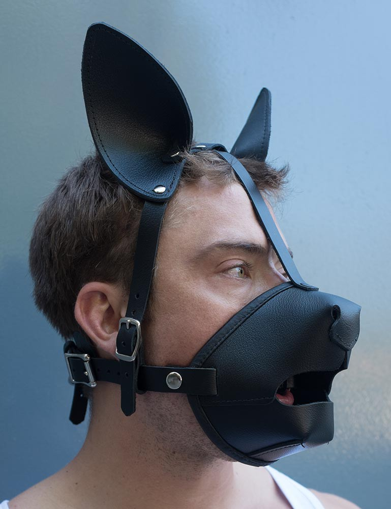K9 Puppy Play Muzzle with Silicone Ball Gag