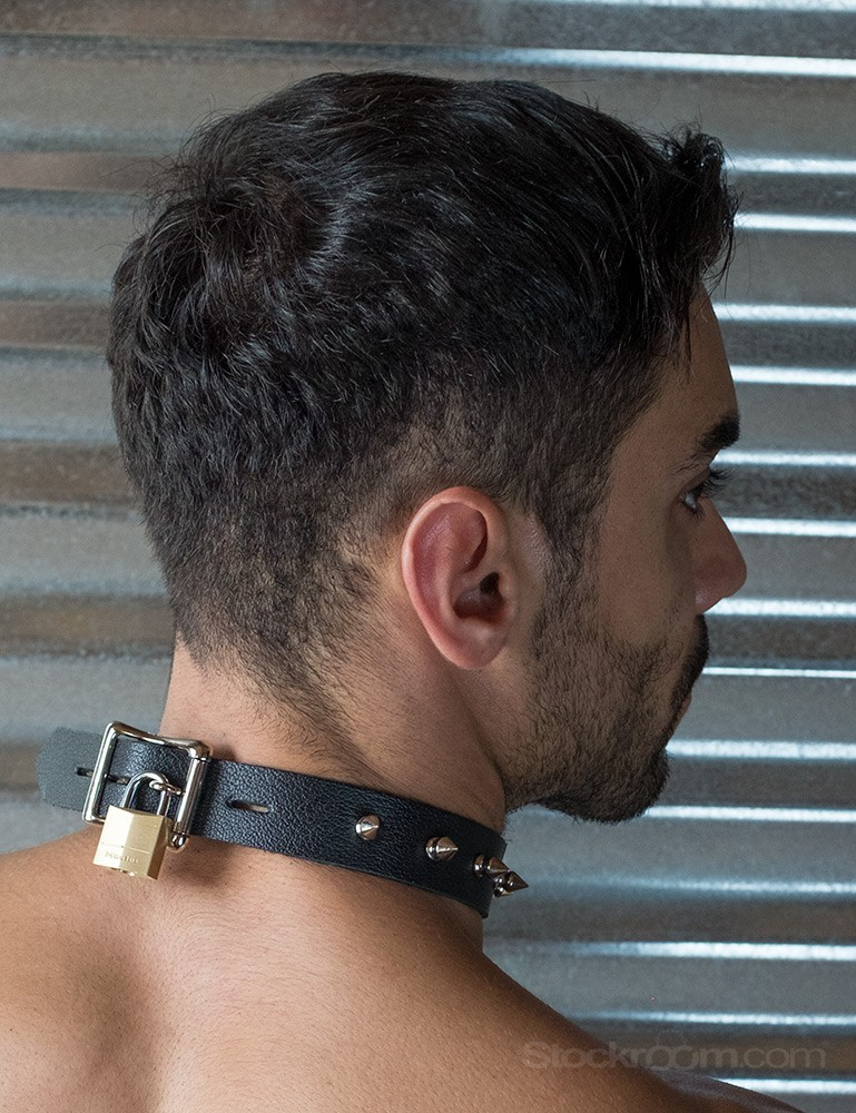 Leather Collar with Spikes