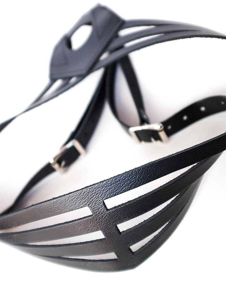 Vanity Strap-On Dildo Harness, Leather