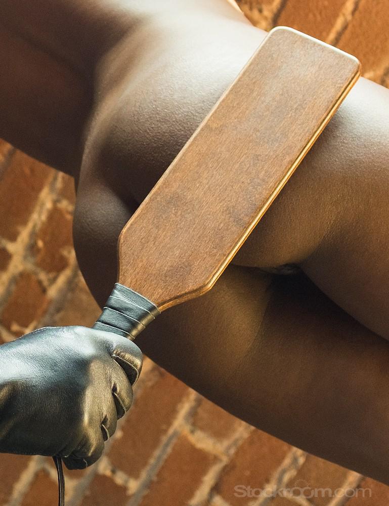 Leather Wrapped Wood Spanking Paddle