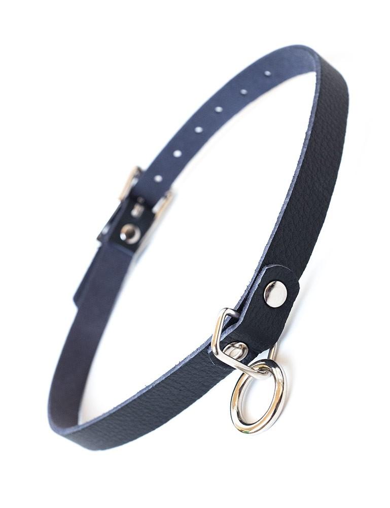 Vondage Vegan Leather Choker With O-Ring
