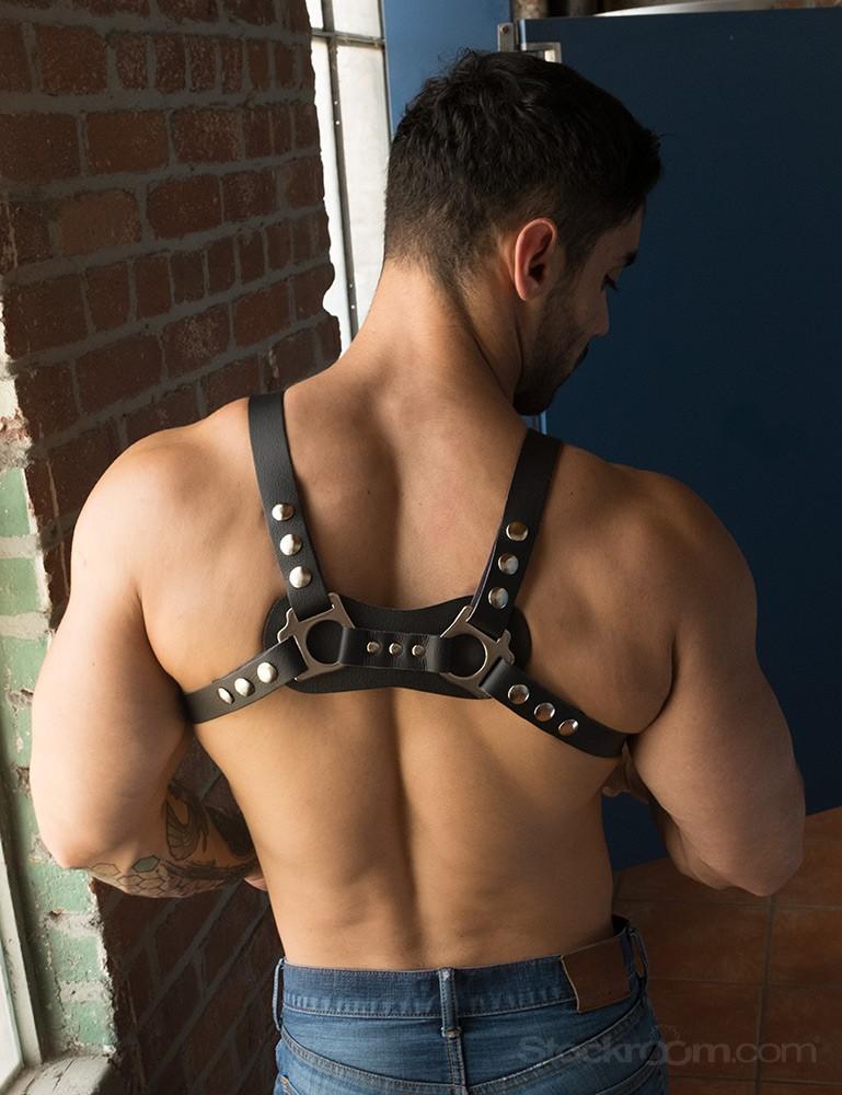 Vondage Vegan Leather Mercenary Suspenders