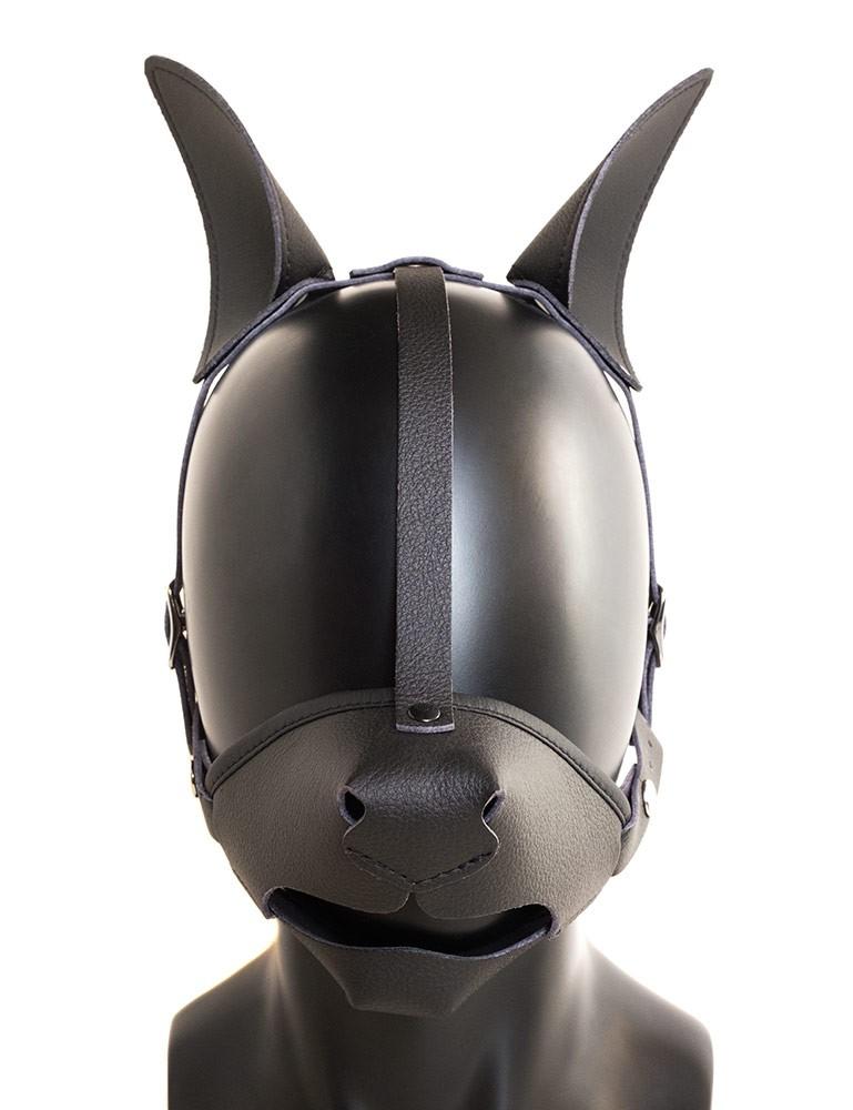 Vondage Vegan Leather K9 Muzzle with Removable Ball Gag
