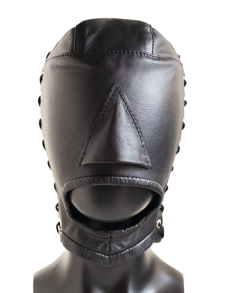 Open Mouth Leather Hood