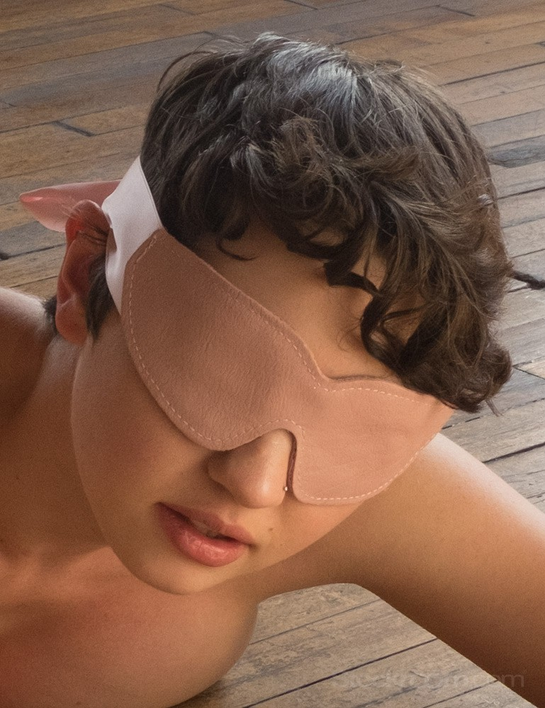 Stupid Cute Pink Leather Blindfold