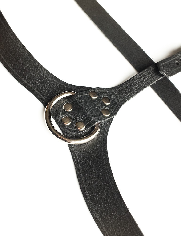 Full Curves Plus Size Leather Bust Harness