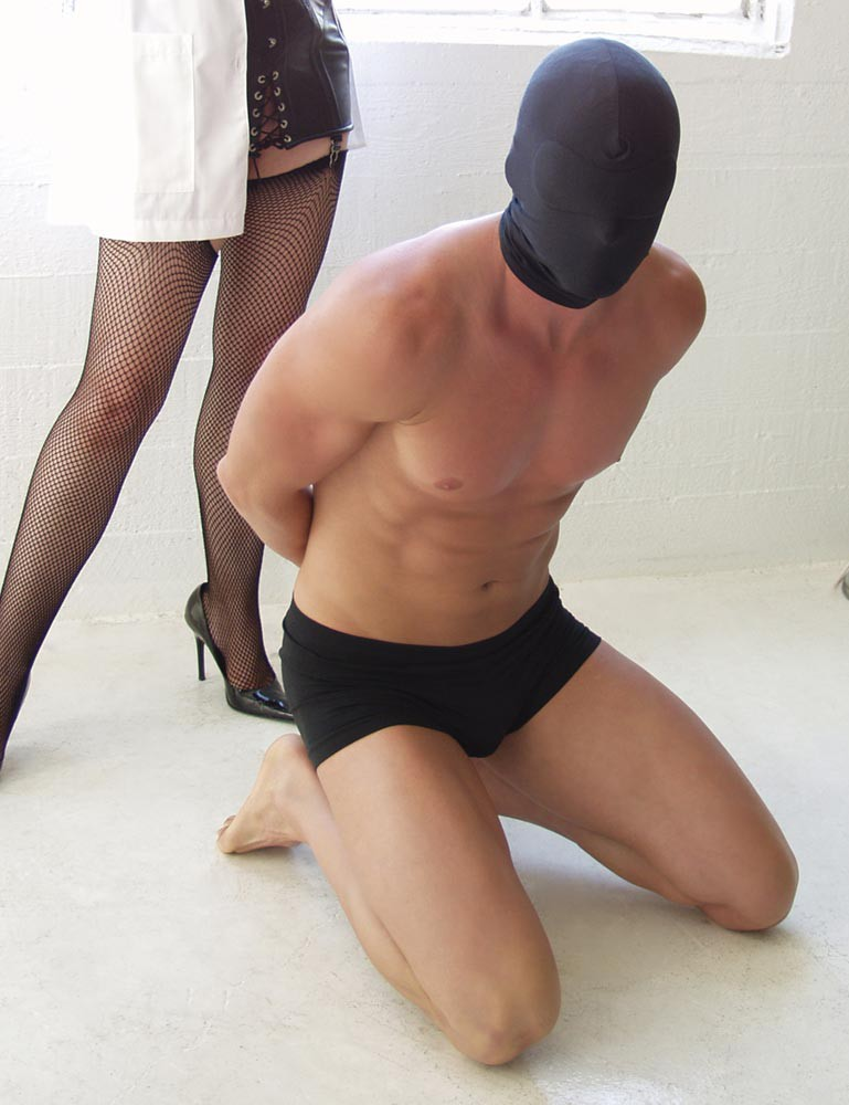 KinkLab Spandex Hood with Blindfold