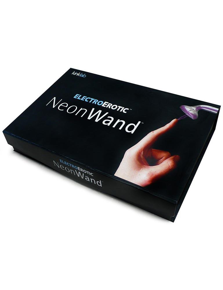 KinkLab Neon Wand Electro Sex Estim Kit, Red Handle