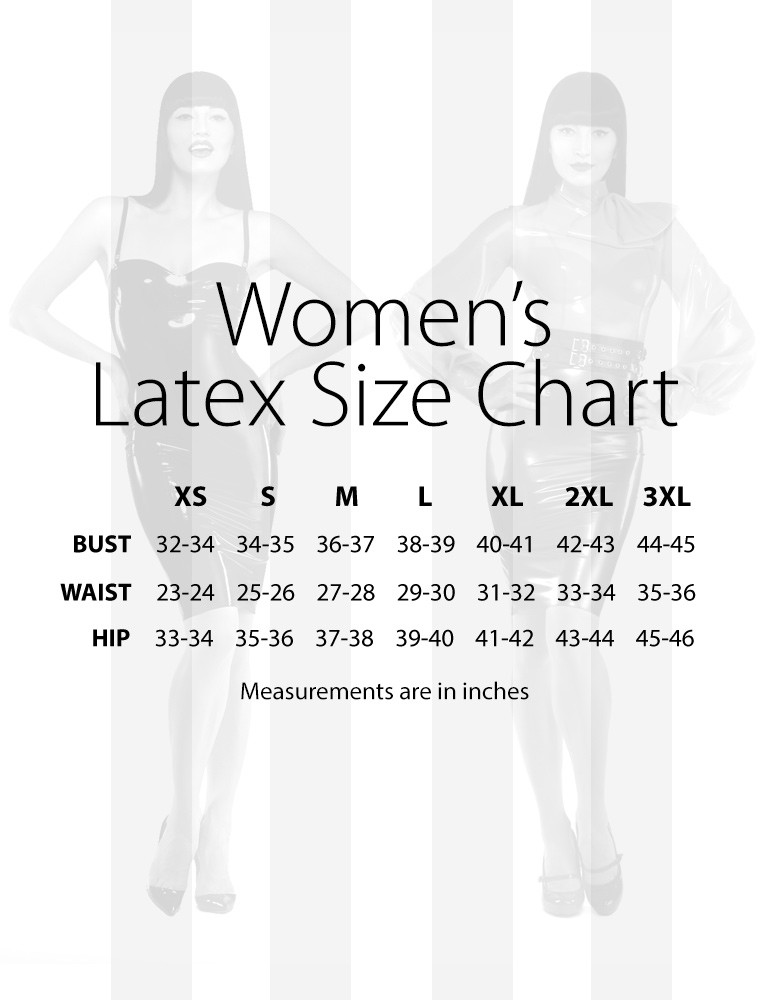 Syren Latex - Size Chart