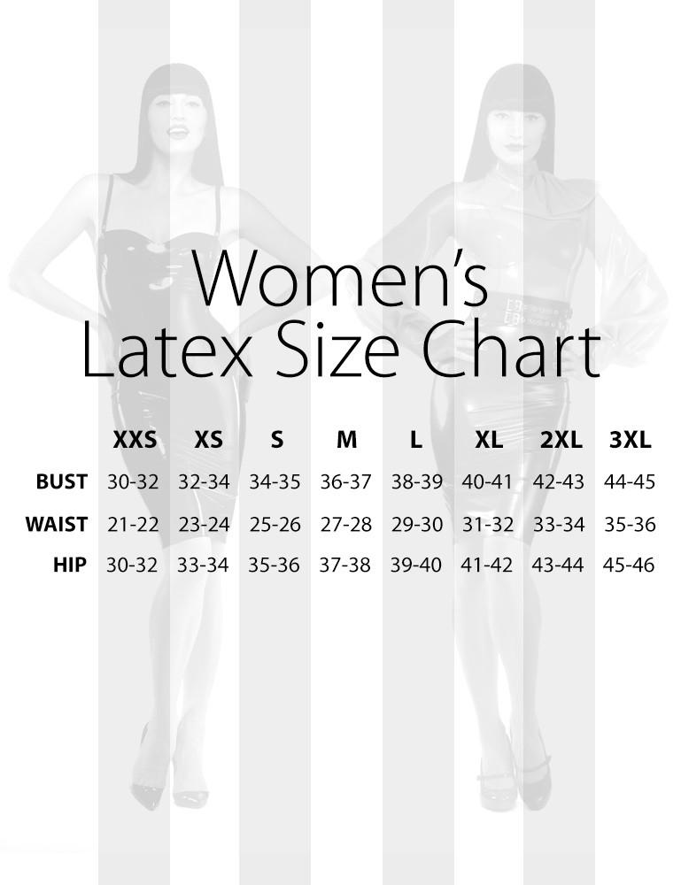 Women's Latex Size Chart