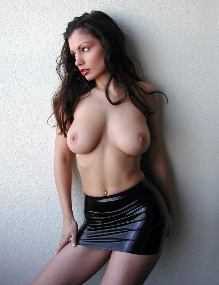 Rubber Mini Skirt