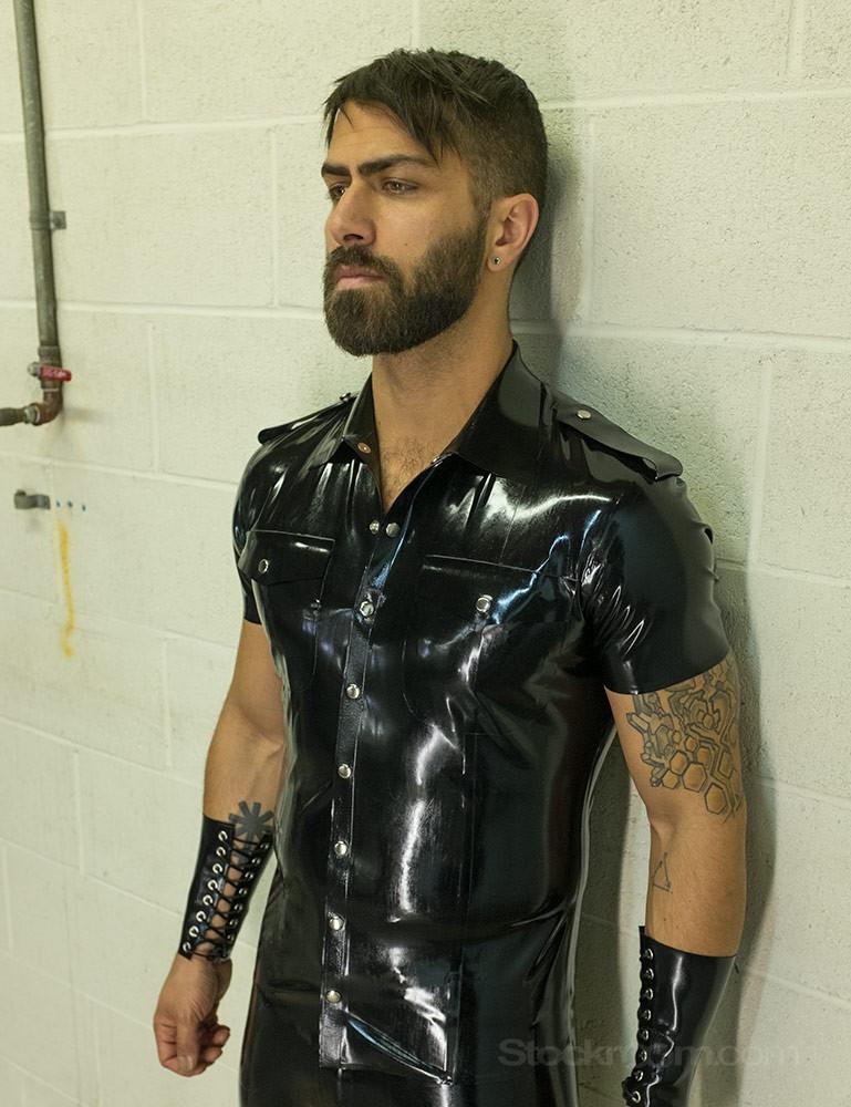 Men's Latex Uniform Shirt