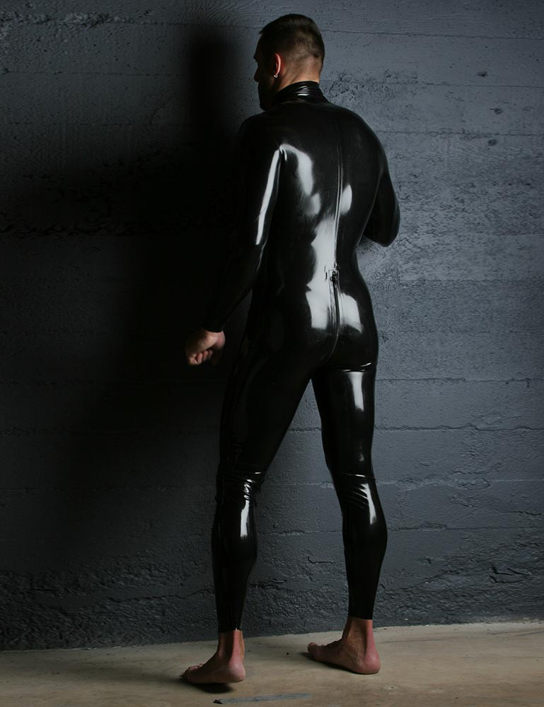 Latex Catsuit w/ Thru Zipper