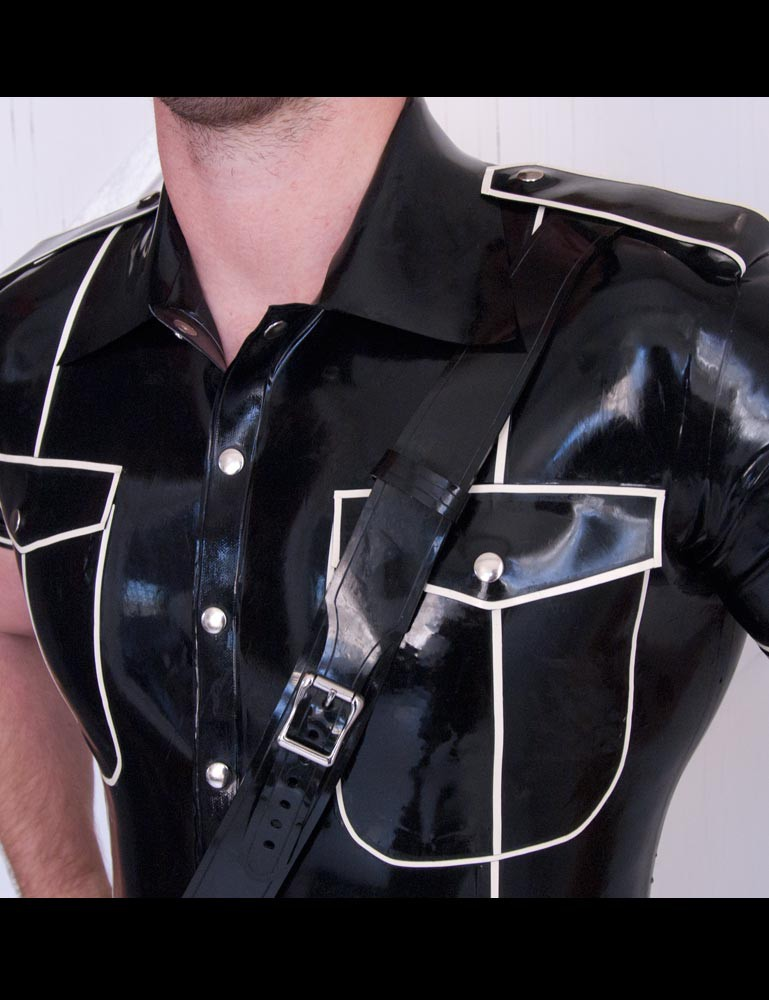 Latex Uniform Shirt w/ Piping