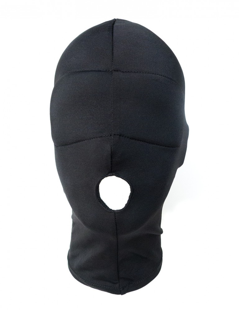 Spandex Hood w/blindfold and open mouth, snug-fit